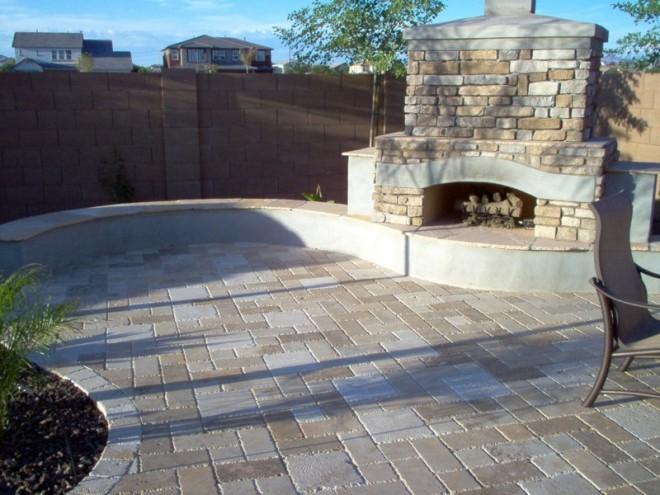 Firepits fireplaces e l m landscaping design inc for Landscaping rock queen creek az