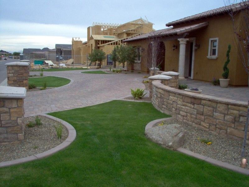 Curbing e l m landscaping design inc for Landscaping rock queen creek az